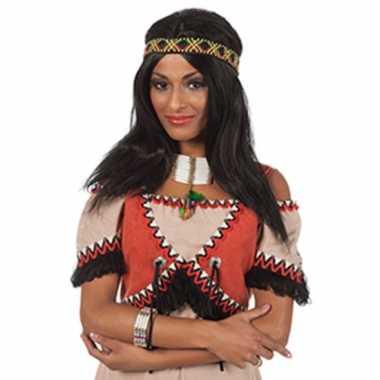 Lange indianen pruiken voor dames